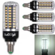 Youoklight E12 7W 72-LED bombilla de maiz blanco frio AC 85-265V 4 PCS