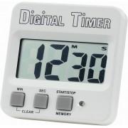 Timer digital Basetech, alb, negru