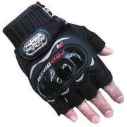 MOCOMO Imported Pro Bike Half Cut Racing Motorcycle Riding Gloves (XL Black)