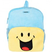 SmileyWorld Crazy Laughing Soft Toy School Bag 14 Inch Blue by Ultra