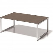 BISLEY Schreibtisch CITO, O-Gestell HxBxT 740 x 2000 x 1200 mm Gestell weiß, Platte Nussbaum