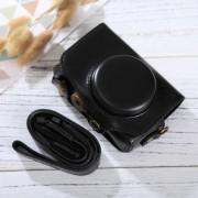 Full Body Camera PU lederen Case tas met riem voor Canon PowerShot SX730 HS / SX720 HS (zwart)