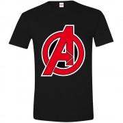 Avengers - A-Logo Men T-shirt - Black, Size M, L, XL