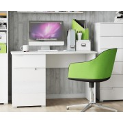 Santiago High Gloss White Small Computer Desk
