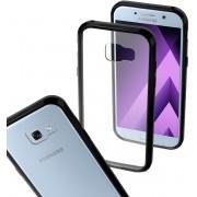 MP Case Transparant protect cover voor de Samsung Galaxy A5 2017 / 2017 Duos met zwarte randen hard en zacht siliconen Extra versterkt back cover schok dempende hoeken
