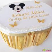 Cutie Trusou Botez Mickey Mouse Gold