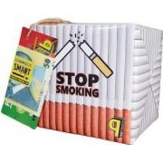 Pusculita Noua STOP Smoking cutie decorativa carton multicolor lucrata manual 12x12x12cm
