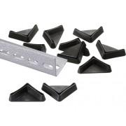 Picioare din plastic Schulte Vario 35x35x10 mm, culoare neagra, 10 bucati