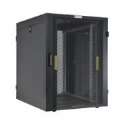 Techly Professional Armadio NetRack 19'' 600x1000 24 Unità Ventilato Nero da Assemblare