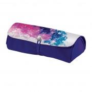 Necessaire închidere cu elastic dimensiune 21x9,5x6,5 cm motiv Color Splash roz