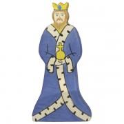 Fa játék figurák - király