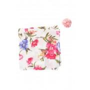 Original Penguin Leandro Floral Pocket Square Lapel Pin Set WHITE