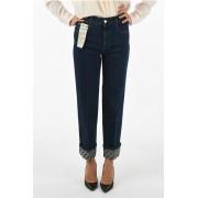 Stella McCartney jeans straight fit in denim stretch a vita alta taglia 26