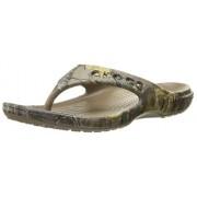 crocs Unisex Baya Realtree Xtra Flip-Flop, Walnut, 5 M US Men's / 7 M US Women's