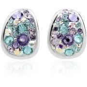 JSB Bijoux Kreole Purple Swarovski® kristályokkal díszített (925/1000; 3 g, többszínű, csepp)
