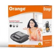 Orange TWO IN ONE ELECTRIC SANDWICH MAKER/ TOASTER FOR TOAST & GRILL Toast, Grill(Black)
