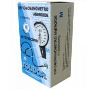 Kit Esfigmomanômetro Aneroide e Estetoscópio Solidor 0~300mmhg M Fecho de Velcro