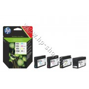 Мастило HP 950XL/951XL combo 4-pack, 4 цвята, p/n C2P43AE - Оригинален HP консуматив - к-т 4 касети с мастило