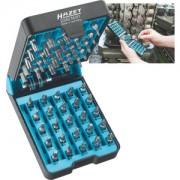 "Hazet HAZET ""BitE""-box - schroevendraaierbitset 2240N/51 . Pozidriv-profiel PZ, Zeskant hol 6,3 (1/4 inch), Kruiskop profiel PH, Tamper Resistant TORX®-profiel, Binnenzeskant-profiel, Sleufprofiel, Binnen-TORX®-profiel . Aantal gereedschappen: 51"