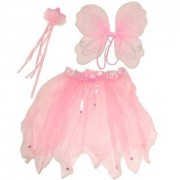 Top Brand Cute Pink Fairy Set, Comprising Wings, Wand and Tutu, Ideal Dressing Up Fancy Dress. Costume.