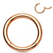 Helix piercing titanium ring gold plated rose kleur