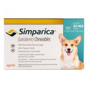 Simparica Chewables For Dogs 22.1-44 Lbs (Blue) 3 Pack