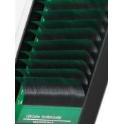 Eyelash extension Mink Exclusive 2Tone (nero+verde) B-curl