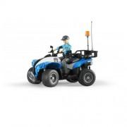 Set figurina femeie politist cu ATV