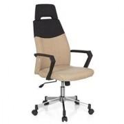 Hjh Sedia da ufficio COLONIAL PRO, esclusivo design bicolore, base in metallo, in beige