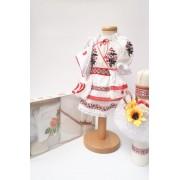 Set Traditional Botez Costumas fetita Trusou Lumanare 2