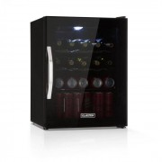 Klarstein Beersafe XL Onyx kylskåp drycker A++ LED 4 metallgaller glasdörr