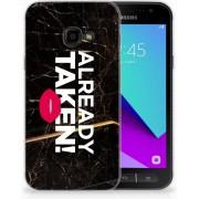 Samsung Galaxy Xcover 4 TPU Hoesje Design Already Taken Black