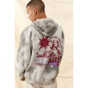 Urban Outfitters UO - Sweat à capuche tie-dye gris motif pyramides- taille: S