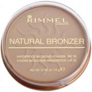 Rimmel Natural Bronzer polvos resistentes al agua efecto bronceado SPF 15 tono 022 Sun Bronze 14 g