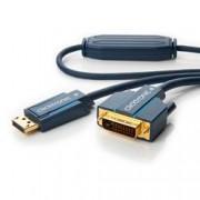 Clicktronic Cavo Monitor DisplayPort Maschio a DVI-D Maschio 20m Blu