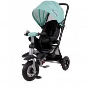 Tricicleta pentru copii Jet Air roti mari cu camera Green Stars