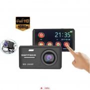 Camera Auto Zenteko Premium Full HD SMK 108 cu camera spate si TouchScreen + Tripla Auto USB, Card MicroSD 32GB