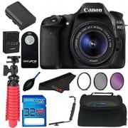 Pixibytes Canon EOS 80D Digital SLR Kit with EF-S 18-55mm Lens (Black) + Elements Accessory Bundle