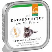 Pate Bio de curcan pentru pisici sensibile, 100g, Defu