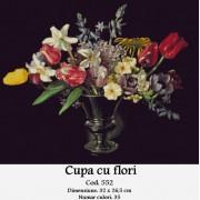 Cupa cu flori (kit goblen)