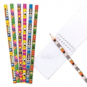 Baker Ross Value Pack Mixed Kids Pencils - 24 Funny Wooden Pencils. Fun Pencils For School. Kids Party Bag Fillers. Size 18cm.
