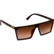 TheWhoop Over-sized Sunglasses(Brown, Golden)