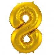 Sifferballong Guld 8