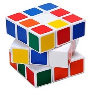 Augymer Magic Cube Rubiks Cube Plastic Rubiks Cube Puzzle Cube 3x3 Stickerless Speed Smooth Magic Cube