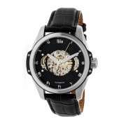 Reign Henley Automatic Semi-Skeleton Leather-Band Watch - Silver/Black/Black REIRN4504