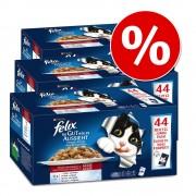 """132 x 100 g Felix """"La fel de bun pe cât arată"""" la preț special! - Selecție de carne și pește (pui, vită, ton, somon)"""