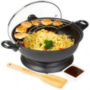 Wok electric cu temperatura ajustabila 28cm 1400W Andrew James AJ001182