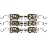 Hans Enterprise Mendi Set of 6 Stainless Steel Single Curtain Rod Bracket pack of 12