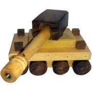 Onlineshoppee Wooden Toy Tank