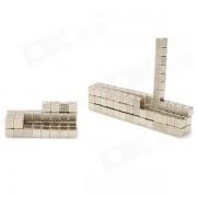 Cubo de iman de neodimio de 4 mm Juego de rompecabezas de bricolaje - plata (125 piezas)